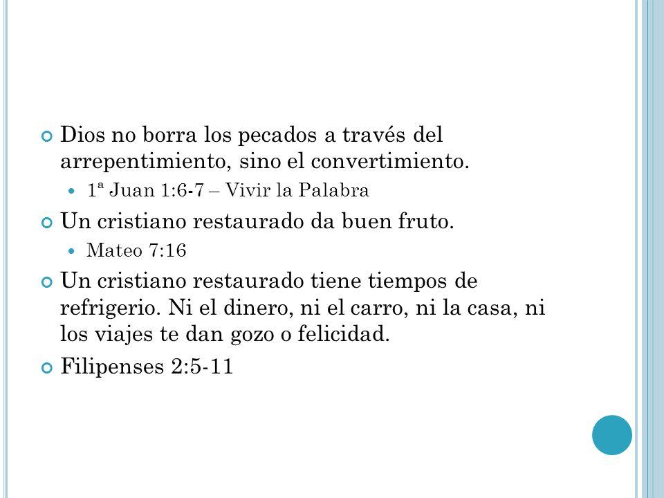 Un cristiano restaurado da buen fruto.