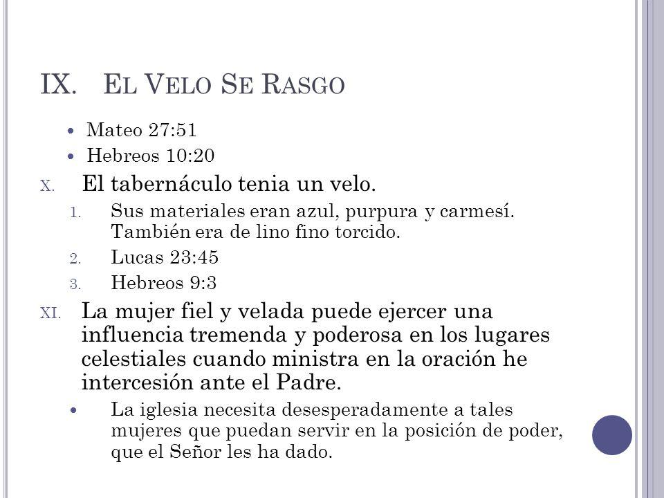 El Velo Se Rasgo El tabernáculo tenia un velo.