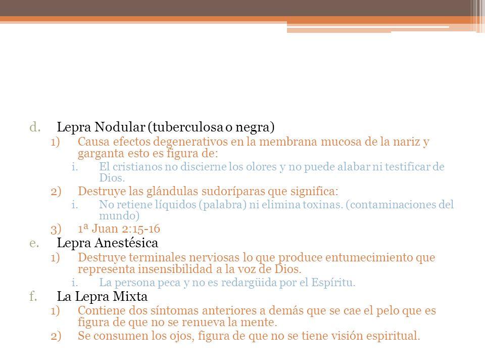 Lepra Nodular (tuberculosa o negra)