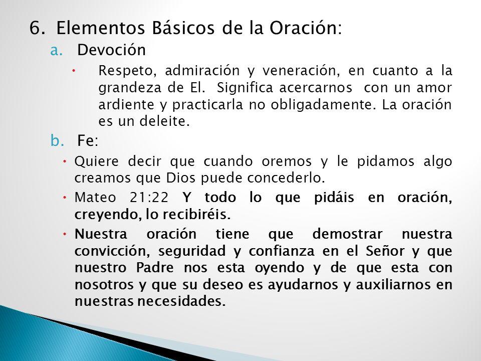 6. Elementos Básicos de la Oración: