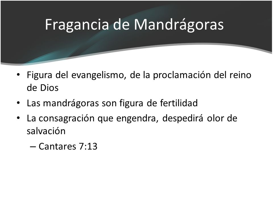 Fragancia de Mandrágoras