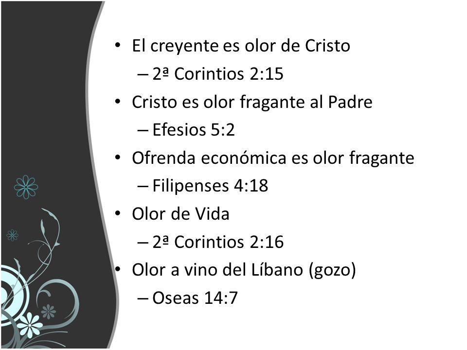 El creyente es olor de Cristo