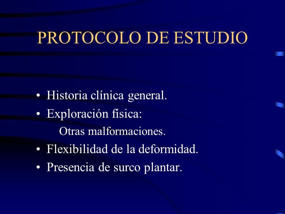 PROTOCOLO DE ESTUDIO Historia clínica general. Exploración física: