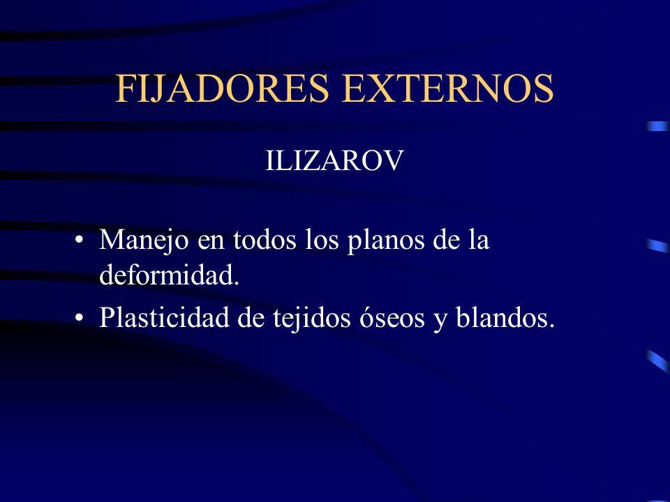FIJADORES EXTERNOS ILIZAROV