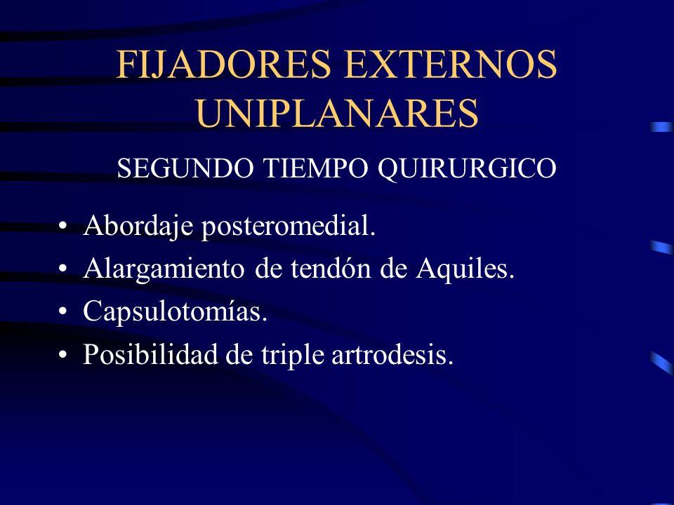 FIJADORES EXTERNOS UNIPLANARES