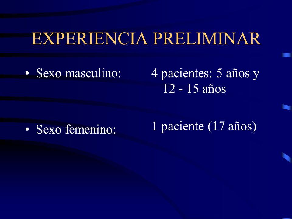 EXPERIENCIA PRELIMINAR