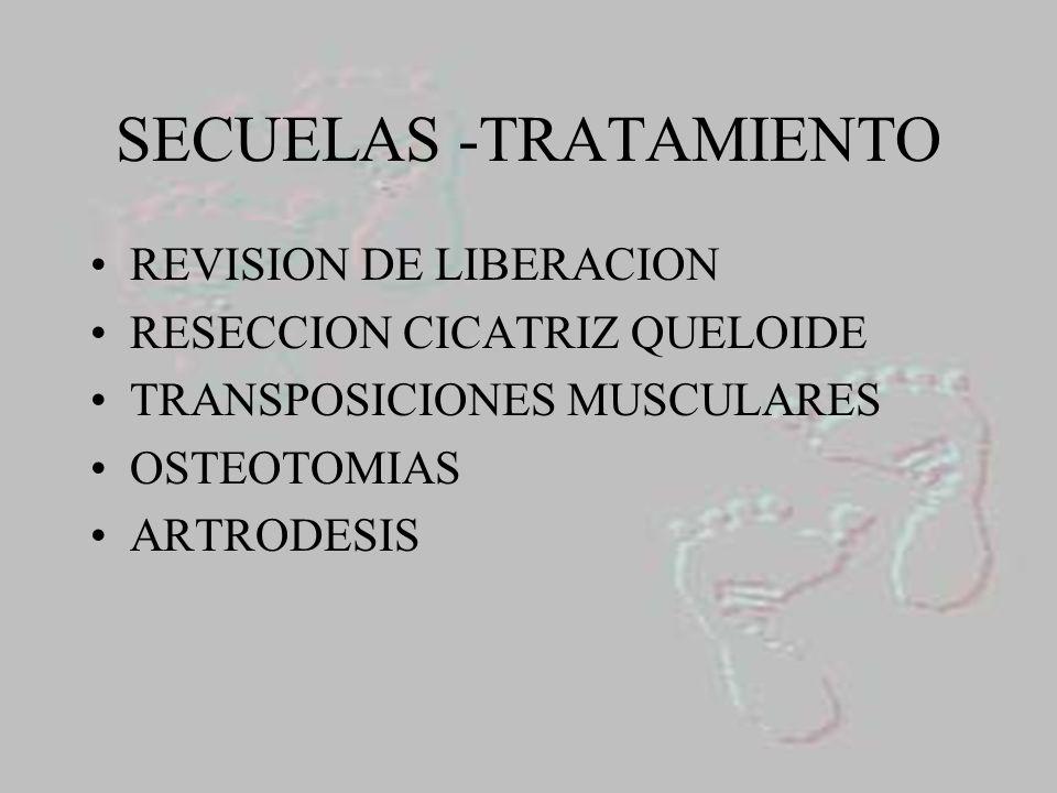 SECUELAS -TRATAMIENTO