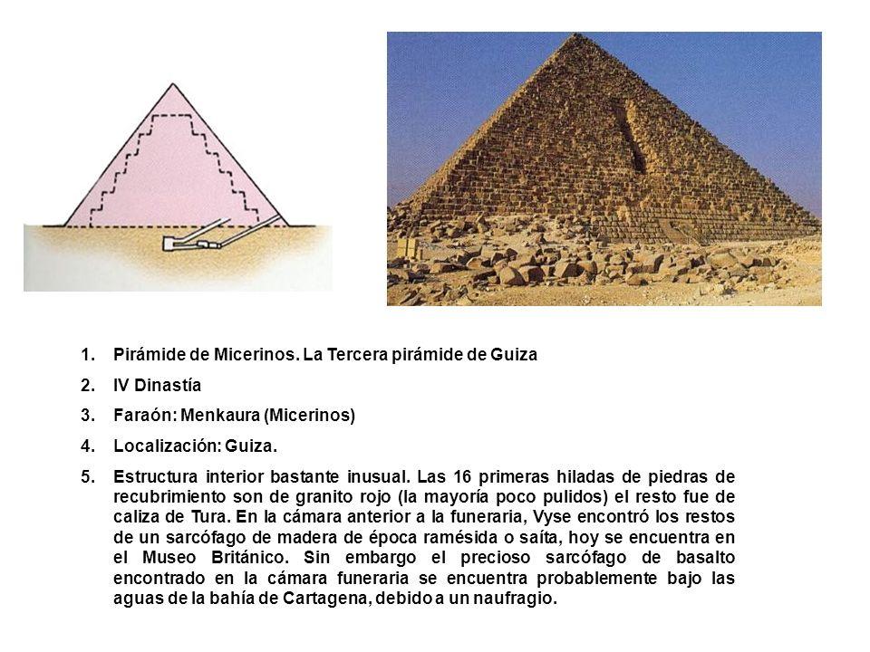 Pirámide de Micerinos. La Tercera pirámide de Guiza