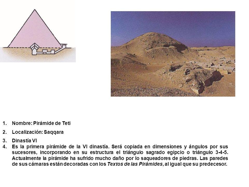 Nombre: Pirámide de Teti