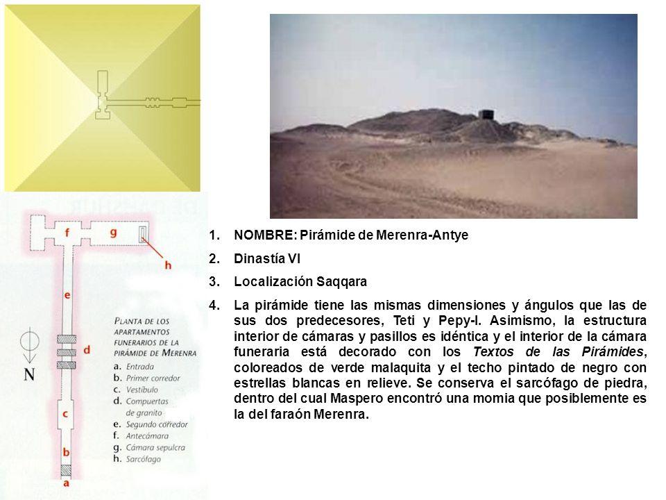 NOMBRE: Pirámide de Merenra-Antye