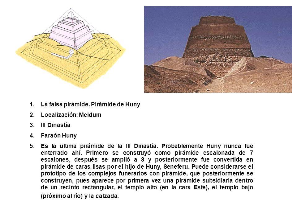 La falsa pirámide. Pirámide de Huny