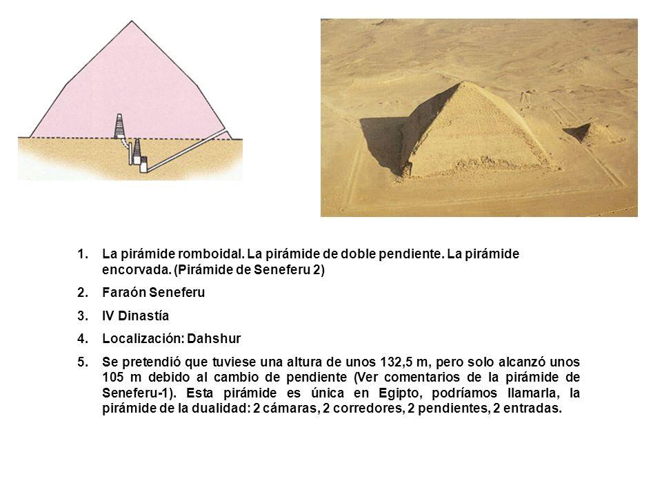 La pirámide romboidal. La pirámide de doble pendiente