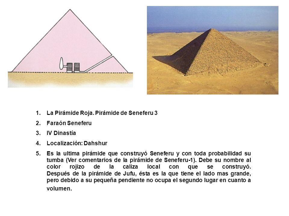 La Pirámide Roja. Pirámide de Seneferu 3
