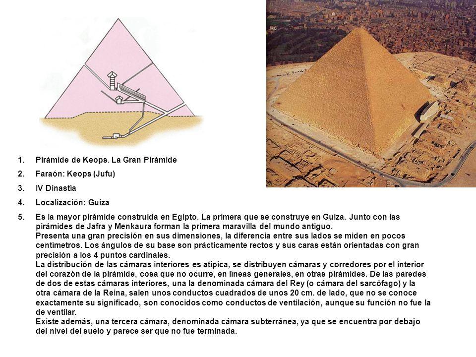 Pirámide de Keops. La Gran Pirámide
