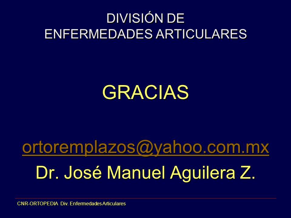 DIVISIÓN DE ENFERMEDADES ARTICULARES