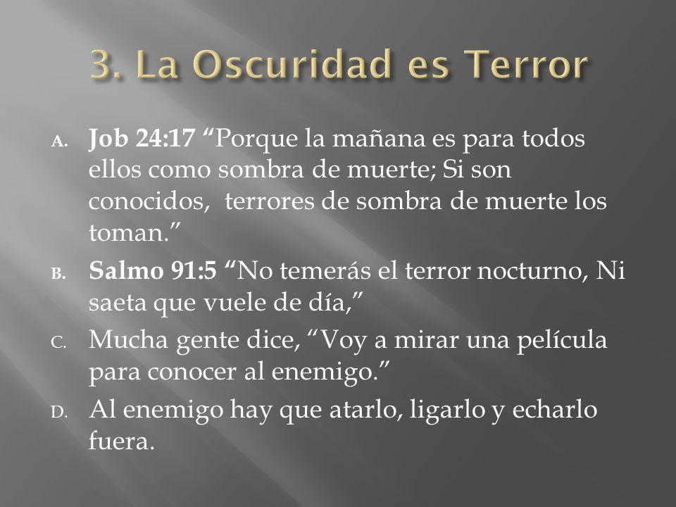 3. La Oscuridad es Terror