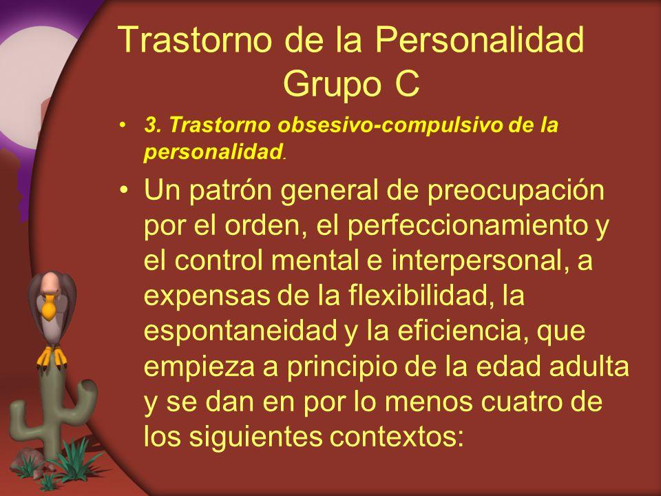 Trastorno de la Personalidad Grupo C