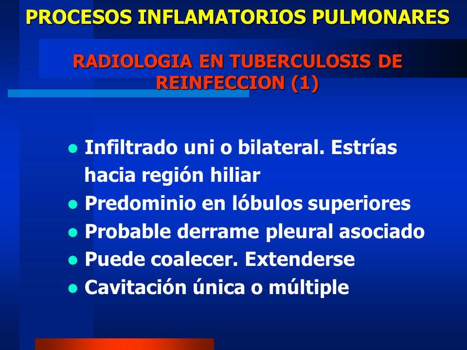 PROCESOS INFLAMATORIOS PULMONARES RADIOLOGIA EN TUBERCULOSIS DE REINFECCION (1)