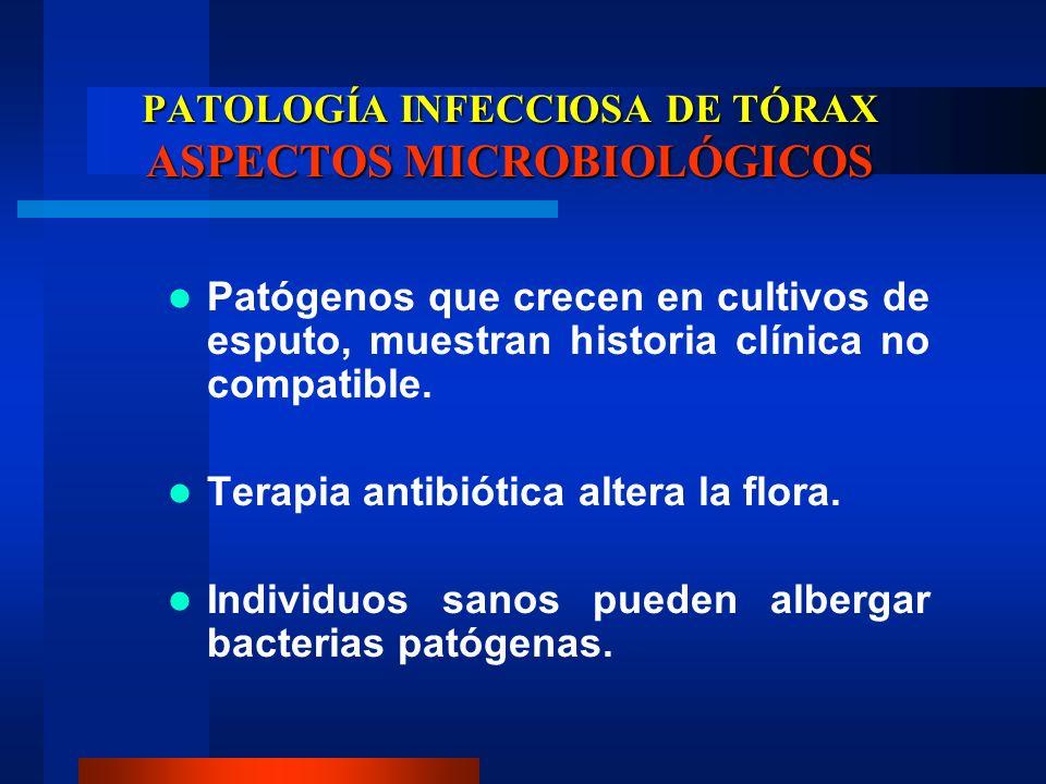 PATOLOGÍA INFECCIOSA DE TÓRAX ASPECTOS MICROBIOLÓGICOS