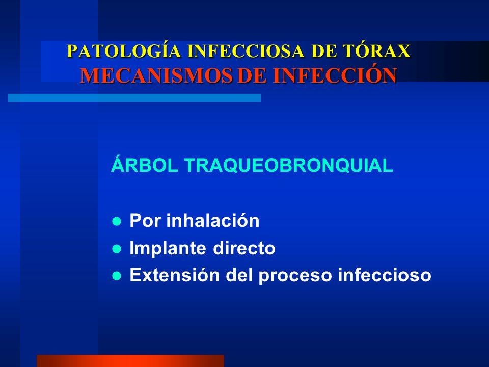 PATOLOGÍA INFECCIOSA DE TÓRAX MECANISMOS DE INFECCIÓN