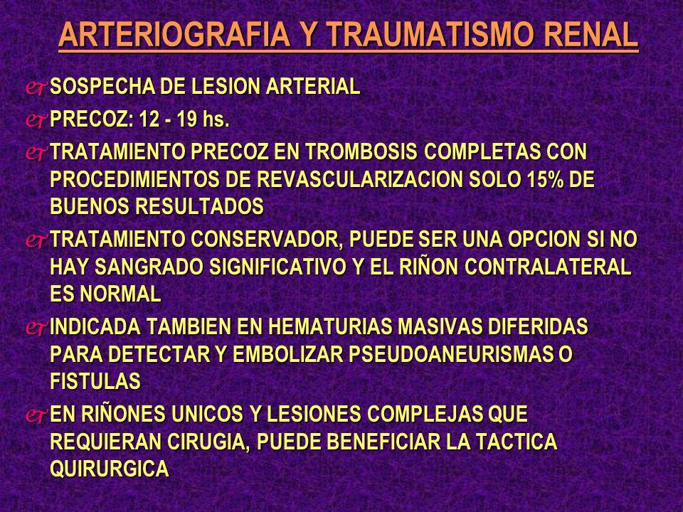 ARTERIOGRAFIA Y TRAUMATISMO RENAL