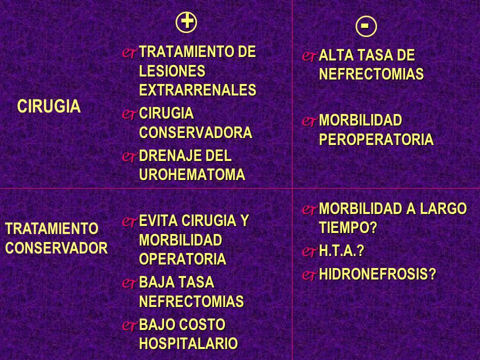 + - CIRUGIA TRATAMIENTO DE LESIONES EXTRARRENALES