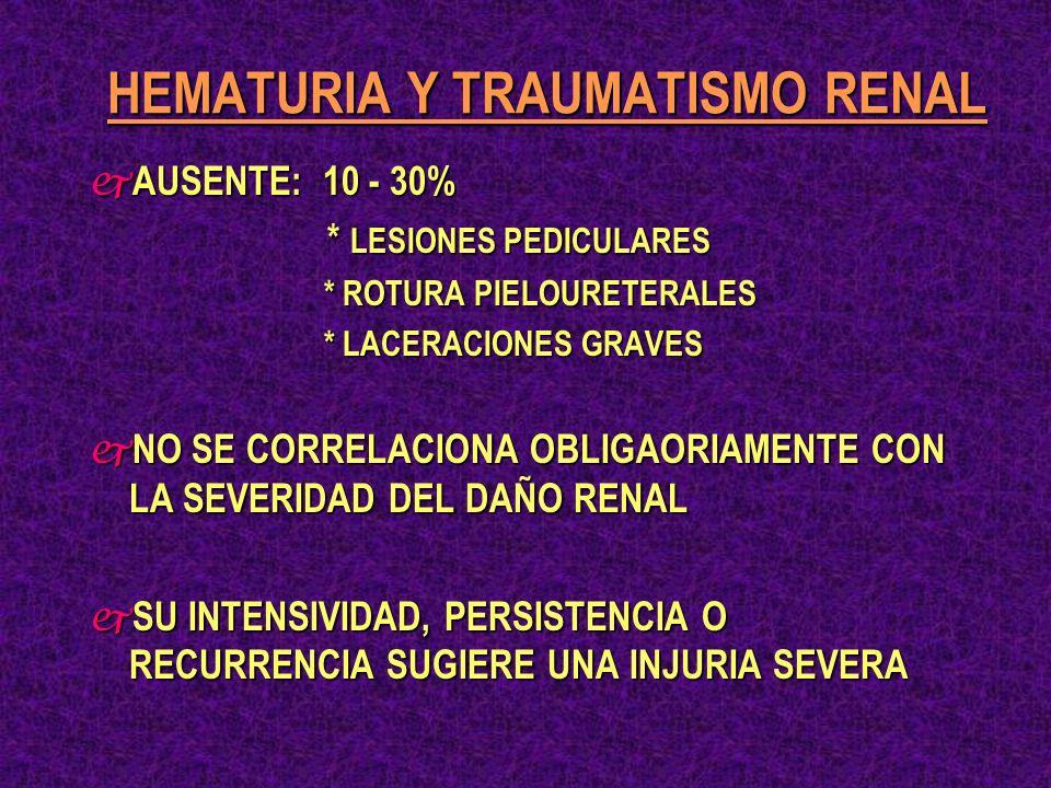 HEMATURIA Y TRAUMATISMO RENAL