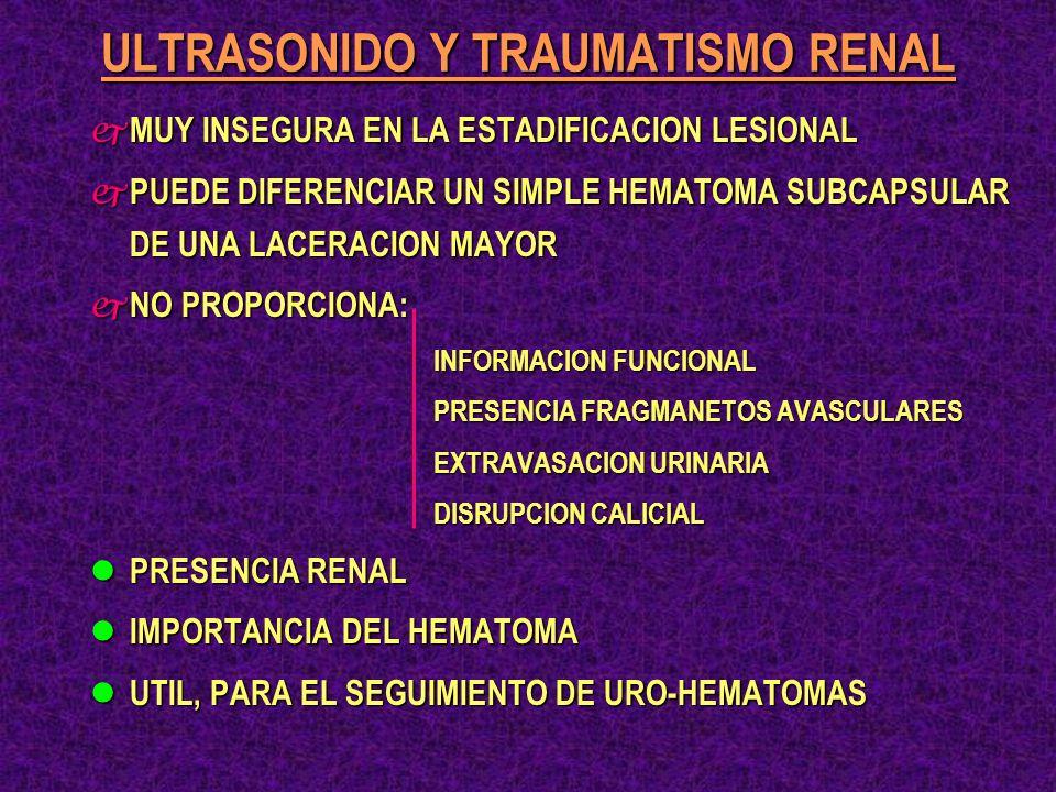 ULTRASONIDO Y TRAUMATISMO RENAL