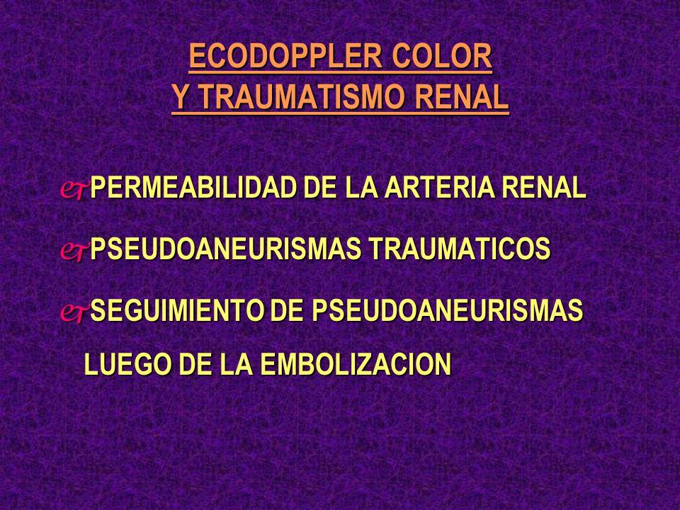 ECODOPPLER COLOR Y TRAUMATISMO RENAL