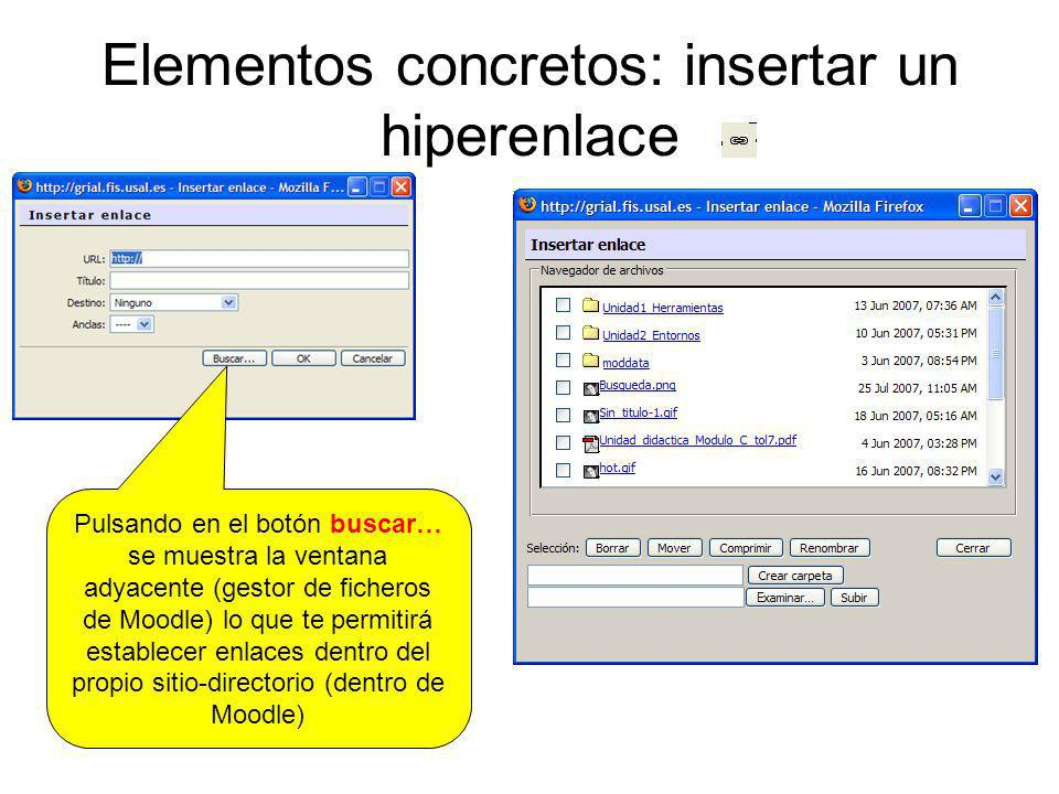 Elementos concretos: insertar un hiperenlace