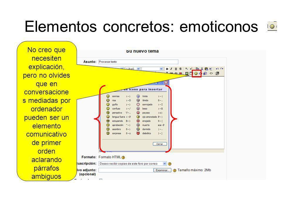 Elementos concretos: emoticonos