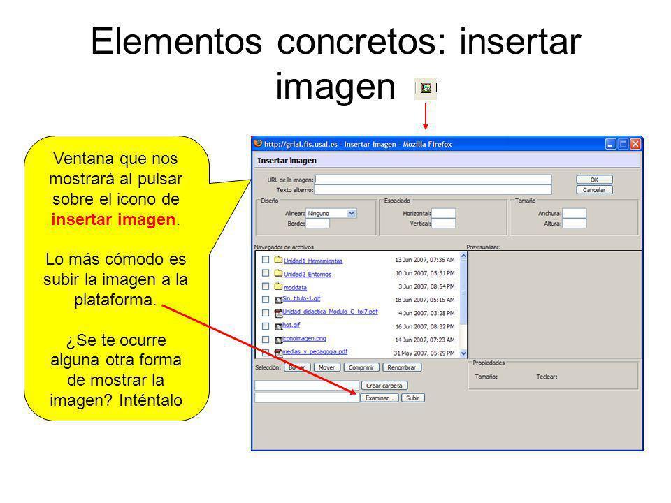 Elementos concretos: insertar imagen