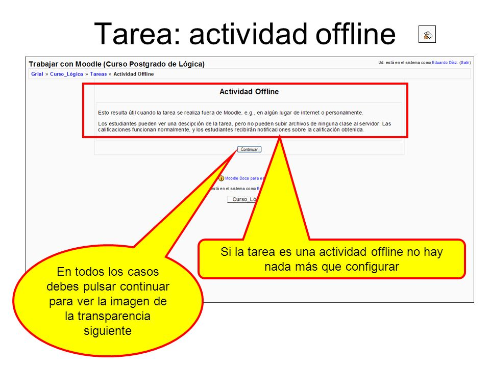 Tarea: actividad offline