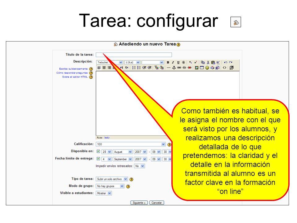 Tarea: configurar