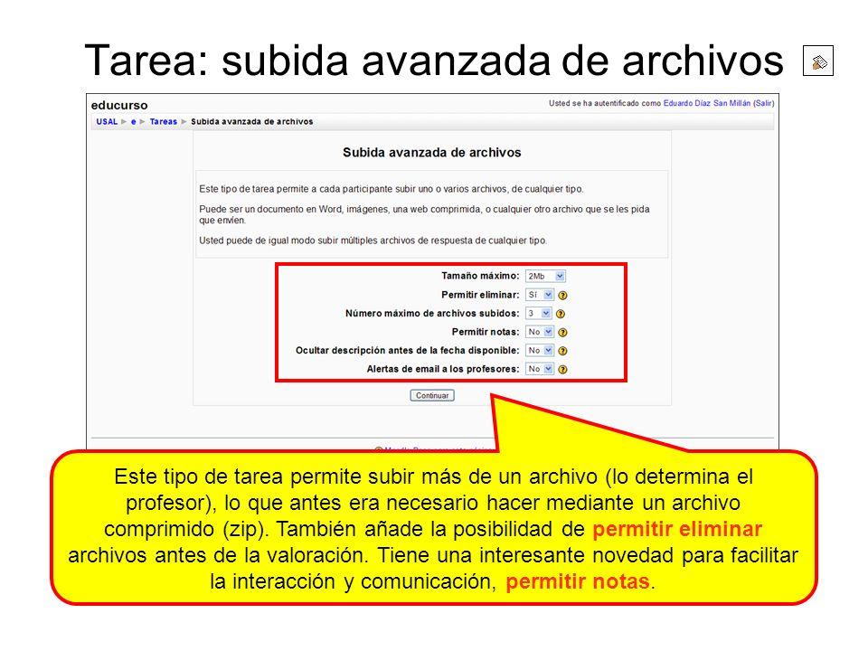 Tarea: subida avanzada de archivos