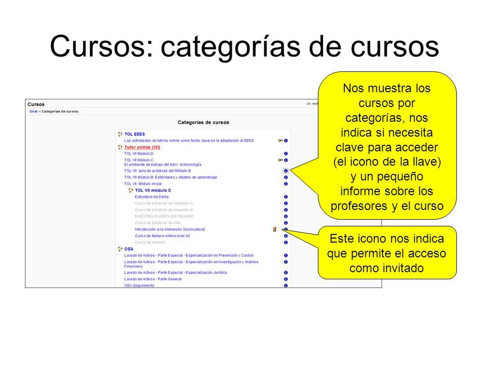 Cursos: categorías de cursos