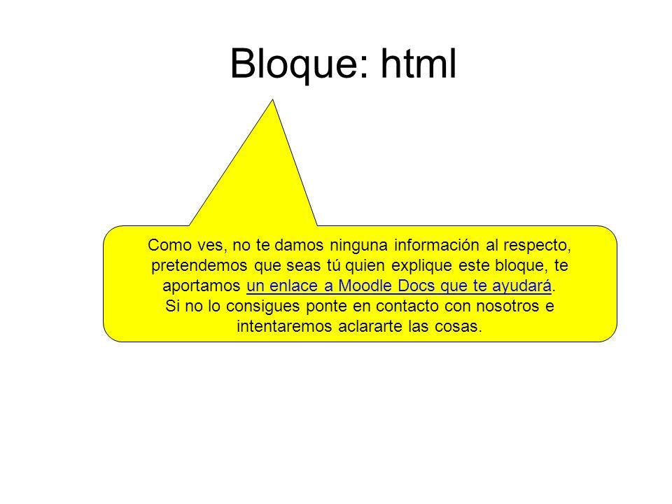 Bloque: html