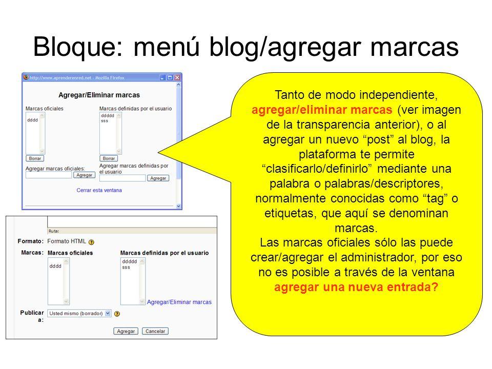 Bloque: menú blog/agregar marcas