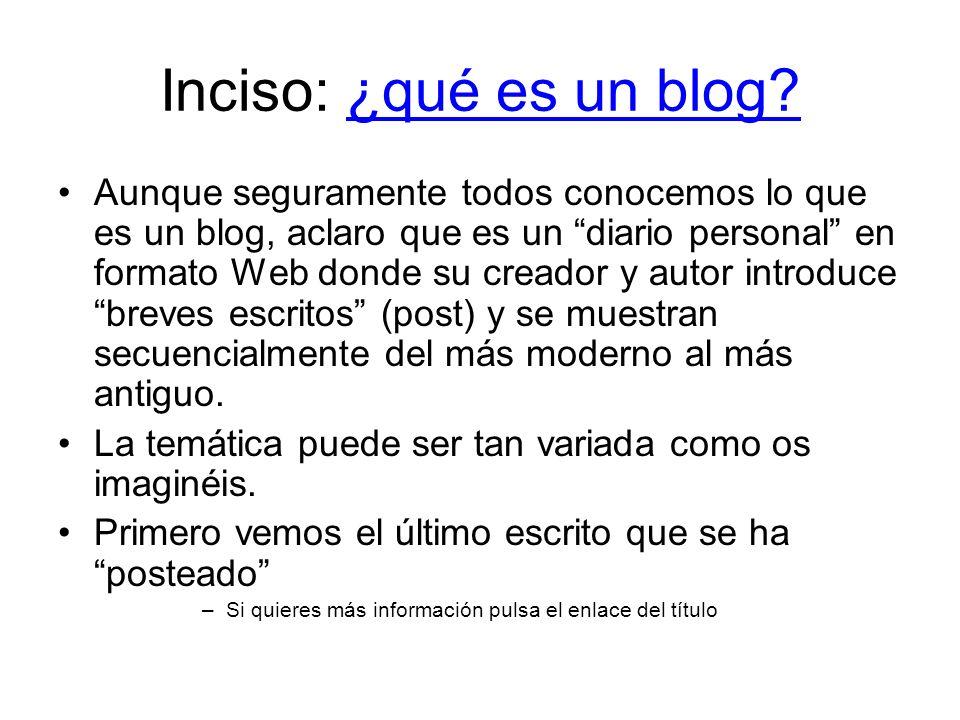 Inciso: ¿qué es un blog