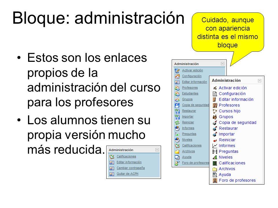 Bloque: administración