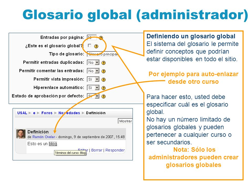 Glosario global (administrador)