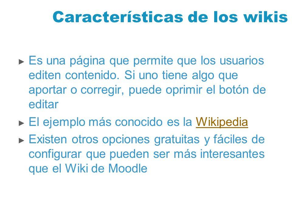 Características de los wikis