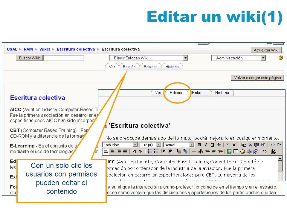 Con un solo clic los usuarios con permisos pueden editar el contenido