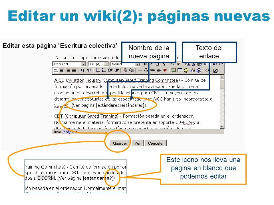 Editar un wiki(2): páginas nuevas