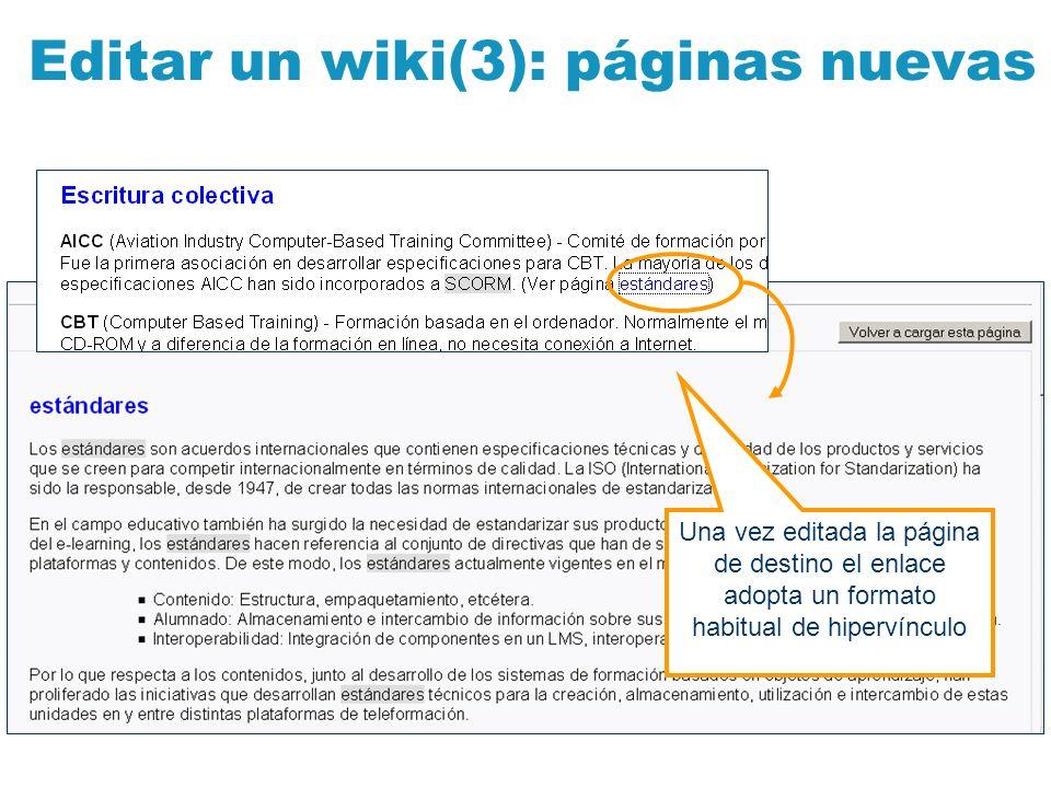 Editar un wiki(3): páginas nuevas