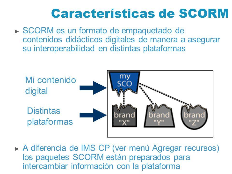 Características de SCORM