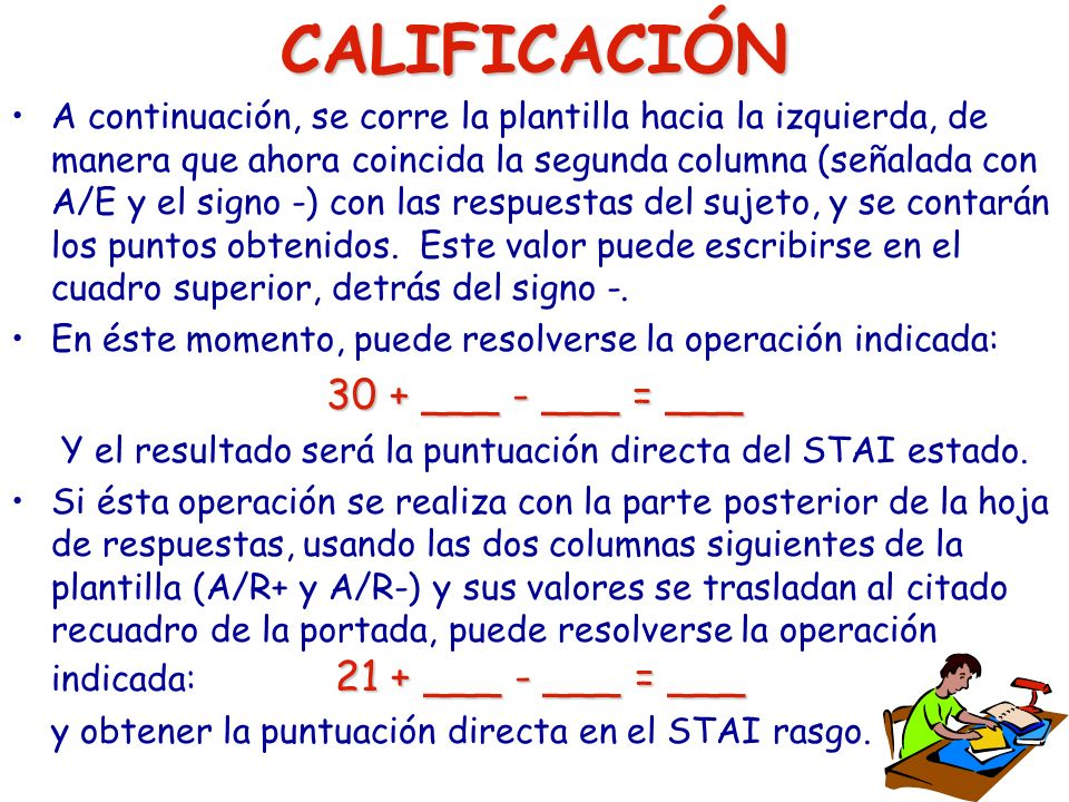 CALIFICACIÓN 30 + ___ - ___ = ___