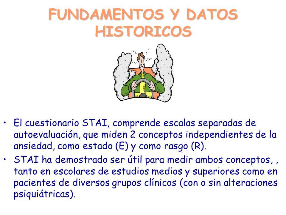 FUNDAMENTOS Y DATOS HISTORICOS