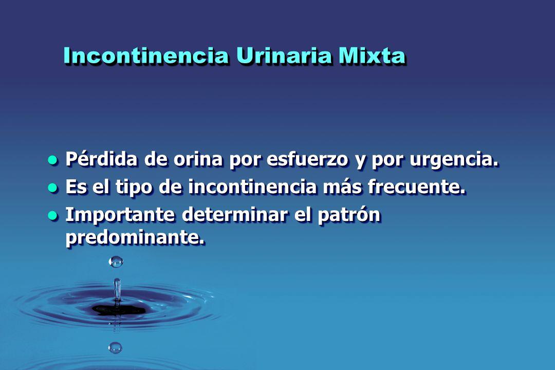 Incontinencia Urinaria Mixta