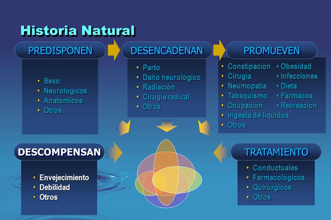 Historia Natural PREDISPONEN DESENCADENAN PROMUEVEN DESCOMPENSAN